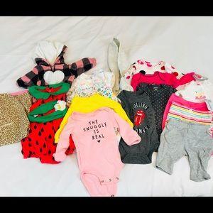 CARTERS NB NEW BORN BABY GIRL  BUNDLE